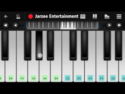 Surili Akhiyon Wale (Veer) - Easy Mobile Piano Tutorial | Jarzee Entertainment