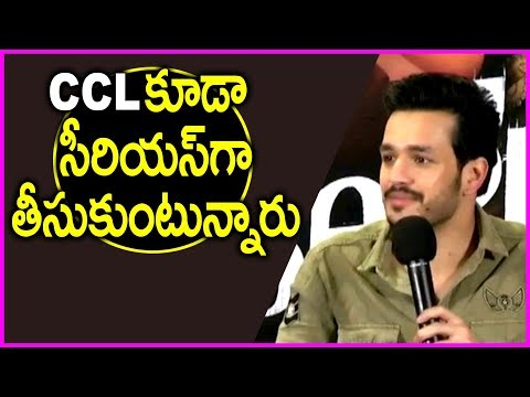 Akhil Sensational Comments On CCL T10 2017 Cricket Match | Hello Movie Thanks Meet