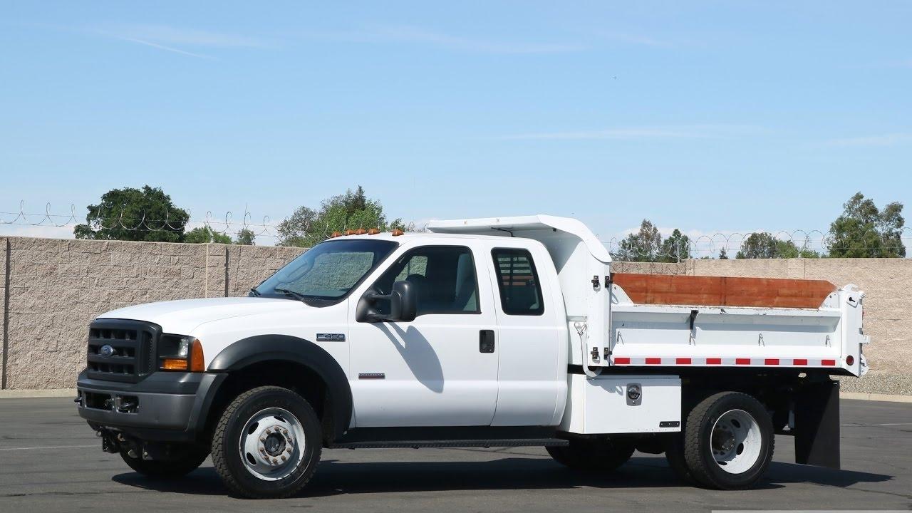 F450 Dump Truck For Sale >> 2006 Ford F450 4x4 3 4 Yard Dump Truck