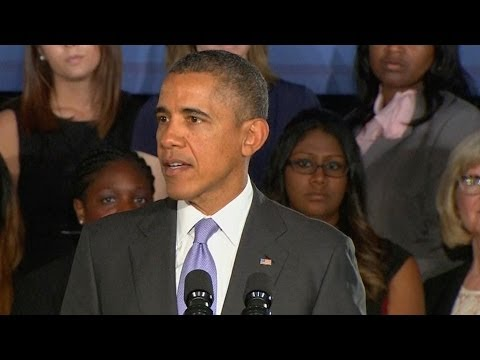 Obama Speaks to Audience of Women About Equal Pay