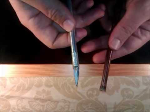 Making Qalam Iranian Reed Pen قلم نی ایرانی دزفولی long video