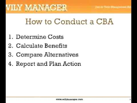 How To Do A Cost Benefit Analysis A Minute Crash Course  Youtube