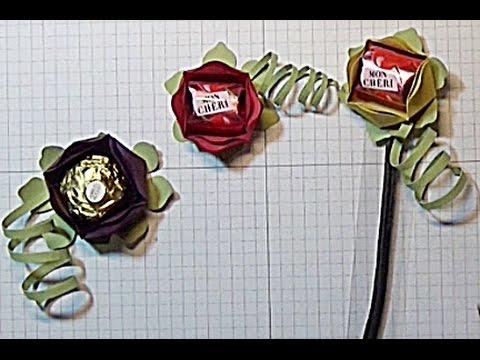 Anleitung: Blüte für Rocher oder Mon Cheri - YouTube
