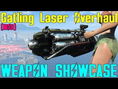 Fallout 4: Weapon Showcases: Gatling Laser Overhaul (Mod)