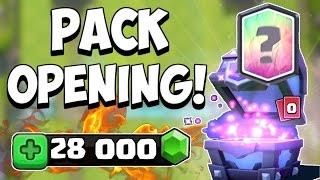 Clash Royale ~ PACK OPENING 28 000 GEMMES + BUCHERON DANS LE SHOP