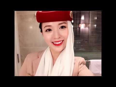 3 beautiful hostesses Vietnam's international airlines, vietnamese kute girl is airline crew