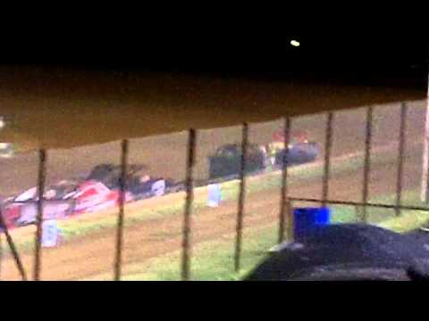 Mini Stock A Feature at Lawton Speedway 8/29/2015 (Part 2, The finish)