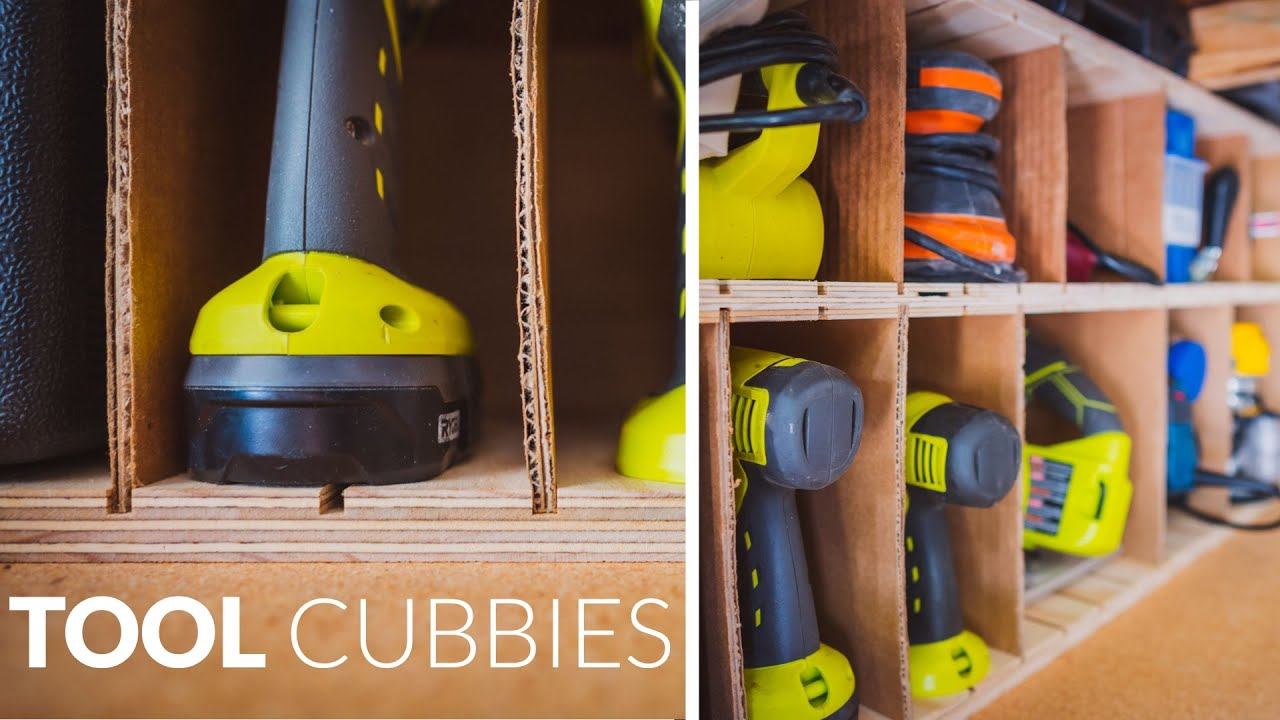 Building Tool Cubbies for Shop Organization