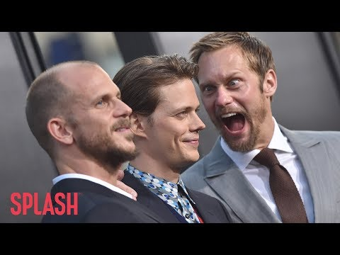 Watch Alexander Skarsgard Try to Make Brother Bill Jump at 'It' Premiere  Splash  TV