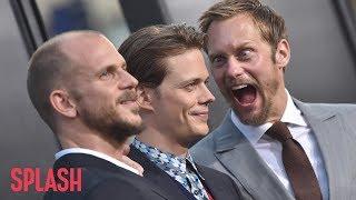 Watch Alexander Skarsgard Try to Make Brother Bill Jump at 'It' Premiere | Splash News TV