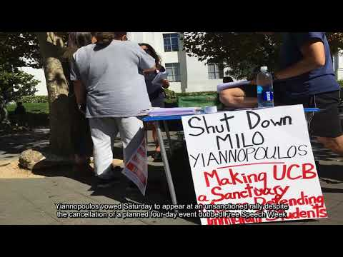 Latest Right wing activist holds short California rally