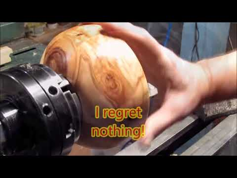 Woodturning a Stomp Toy With Fire Wood and an Up-cycled Soda Bottle