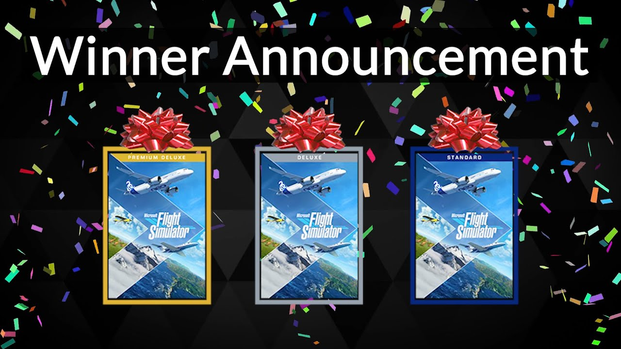 Giveaway Winner Announcement of Microsoft Flight Simulator 2020
