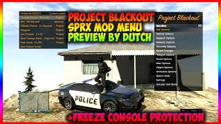 GTA 5 NEW *(PROJECT BLACKOUT SPRX)* {1.27/1.28 MOD MENU SHOWCASE} +CONSOLE FREEZE PROTECTION
