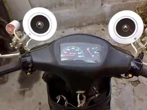Колонки своими руками на скутер