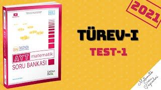 345 AYT 2021 MATEMATİK TÜREV-1 TEST-1 ÇÖZÜMLERİ