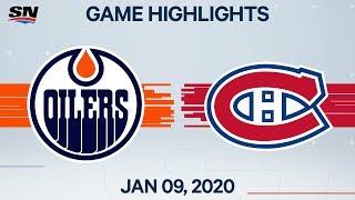 NHL Highlights   Oilers vs. Canadiens – Jan. 9, 2020