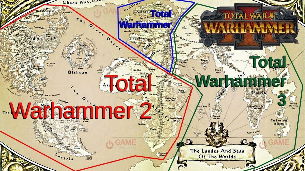 Total War Warhammer 3 Main Campaign Map Size Speculation Youtube