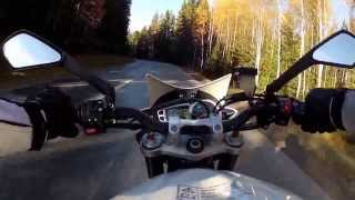 Triumph Street Triple R 2014 country side ride