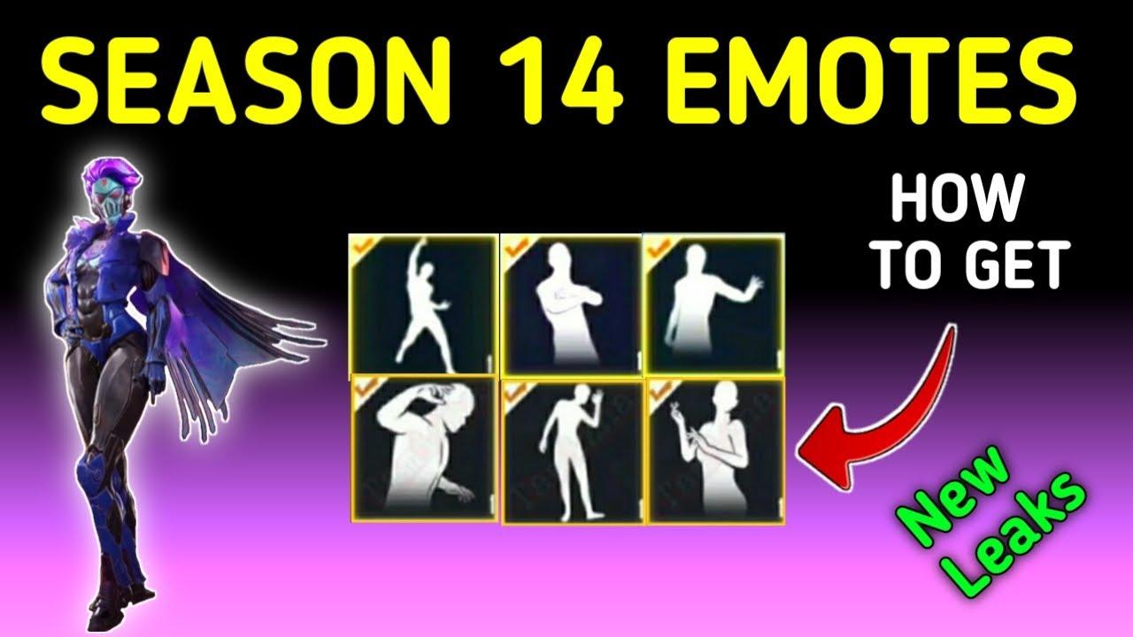 HOW TO GET EMOTES SEASON 14 | SEASON 14 EMOTES LEAKS PUBG MOBILE