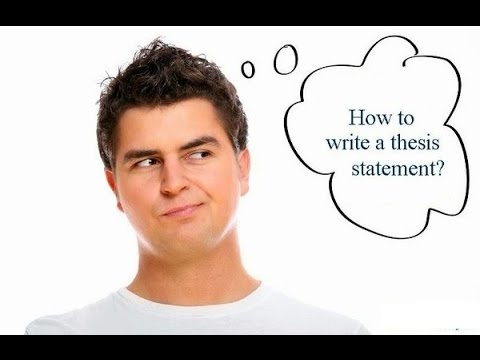 A template to writing a good thesis statement