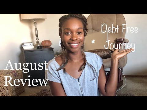 August Debt Review|Debt Free Journey