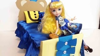 How To Make A Blondie Lockes Doll Bed Tutorial - Ever After High
