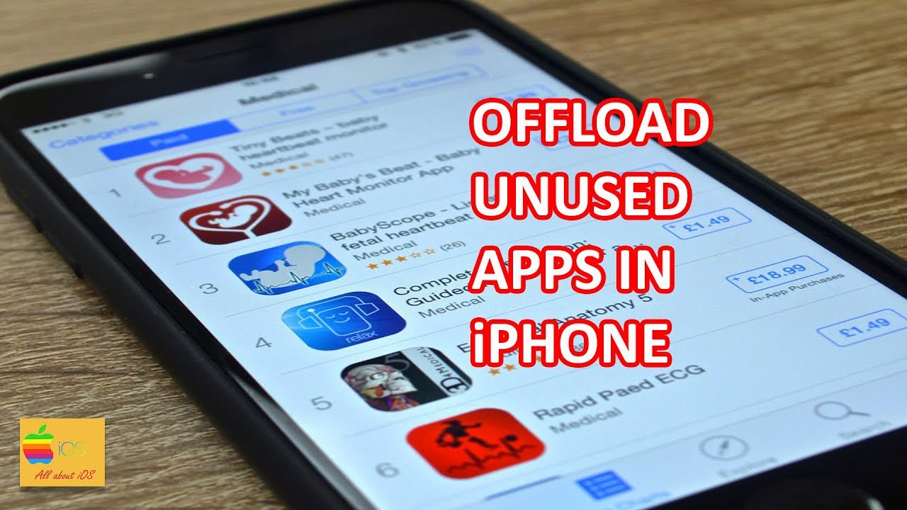 Offload unused apps without loosing data and free up space in iPhone