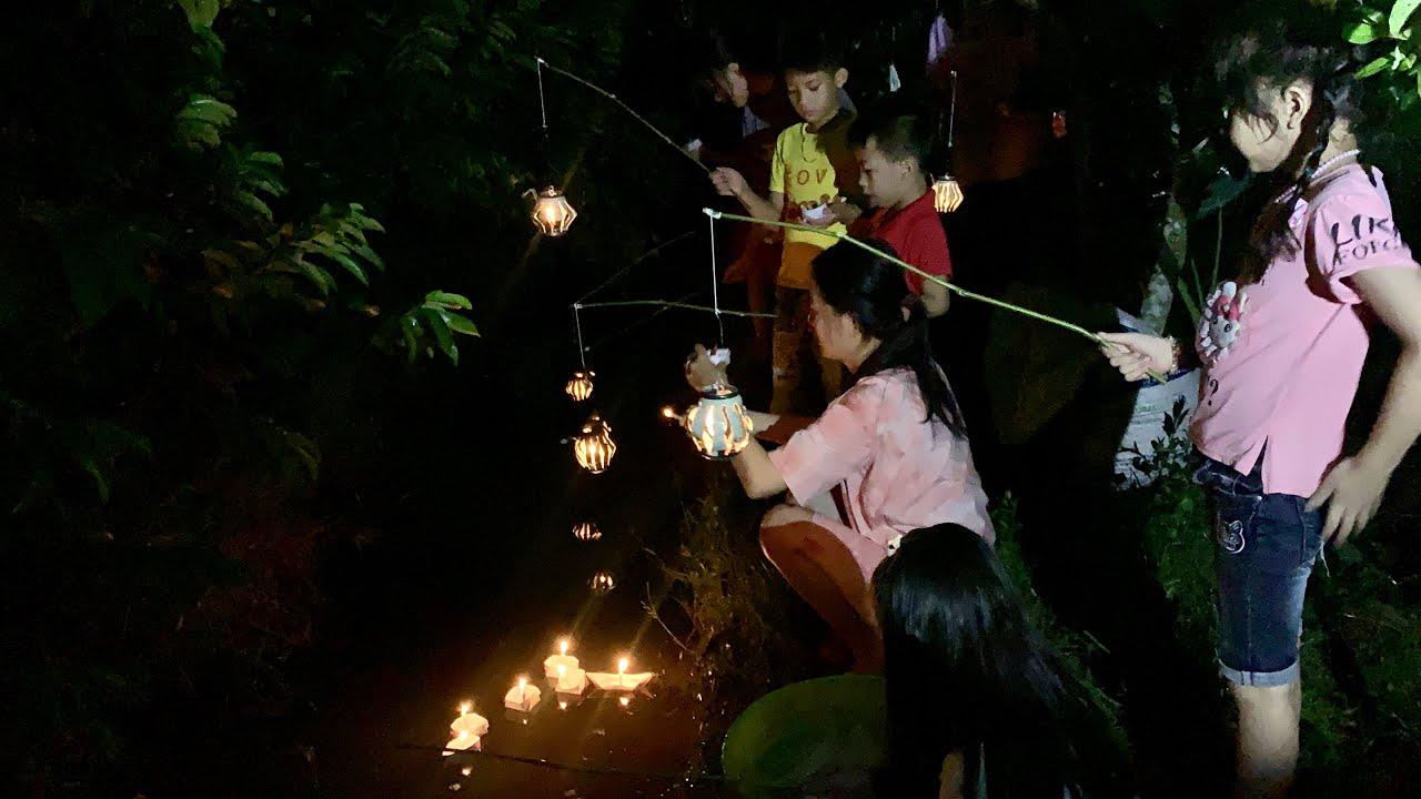 Làm Mâm Gà Rán Siêu To Tổ Chức Tiệc Trung Thu Nhỏ Cho Các Em Trong Xóm Vui Ơi Là Vui | NĐMT#155