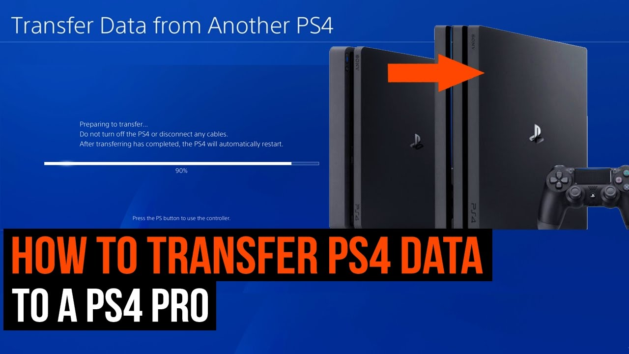 How to transfer PS4 data to a PS4 Pro