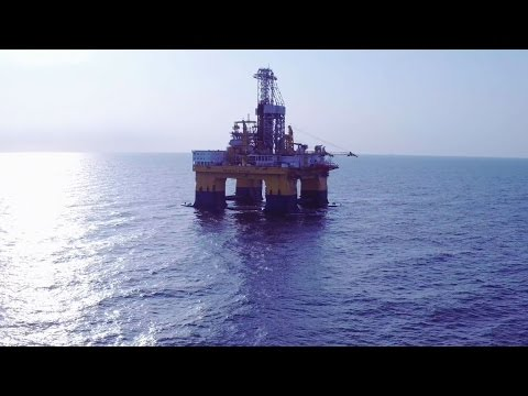 Offshore drilling platform with Inspire1Pro