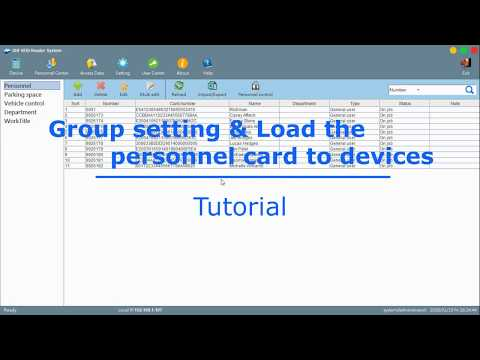 Access Control Tutorial - Group setting & Load the personnel card to device