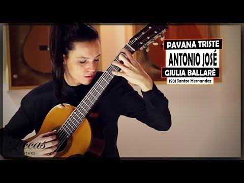 Giulia Ballaré Plays Pavana Triste By Antonio José On A 1931 Santos Hernandez