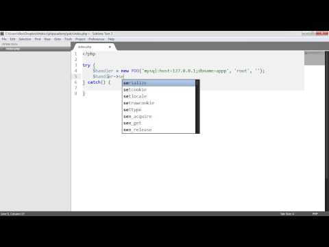 PHP Data Objects (PDO): Connecting (Part 1/8)