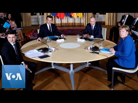 France's Macron, Russia's Putin, Germany's Merkel, Ukraine's Zelenskiy Hold Peace Talks in Paris