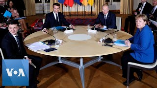 France's Macron, Russia's Putin, Germany's Merkel, Ukraine's Zelenskiy Hold Peace Talks in Paris