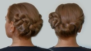 Side Twist Updo| Fast and Easy Hairstyle by Yourself| Tutorial