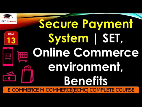 Secure Payment System – SET, Online Commerce environment, Benefits - ECMC Hindi Lectures