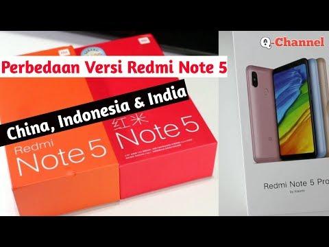 Perbedaan Redmi Note 5 Ai Dan Redmi Note 5 Pro ( China, India & Indonesia )