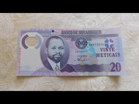 Mozambique 20 Meticais Polymer Banknote!