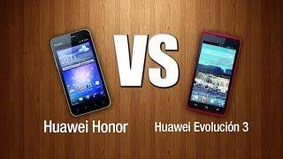 Huawei Honor VS Huawei Evolución 3 (CM990)