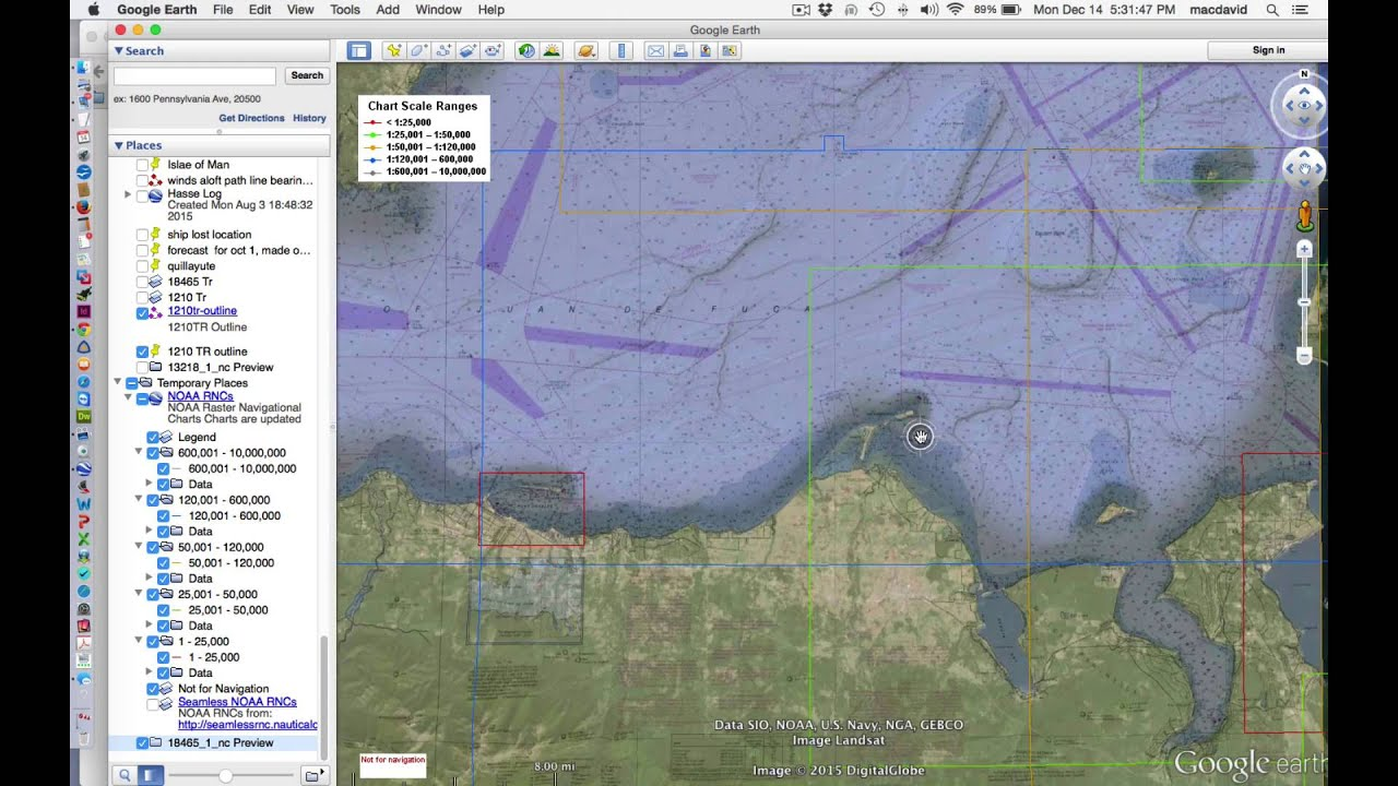 Viewing and Downloading Nautical Charts with Google Earth