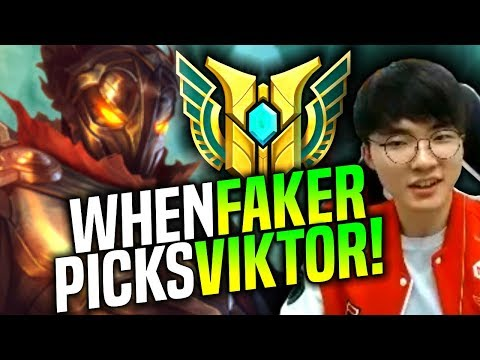 Faker is Ready to Play Viktor! - SKT T1 Faker Picks Viktor Mid! | SKT T1 Replays