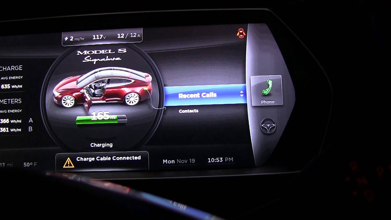 Tesla Model S Instrument Cluster Youtube