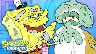 Nyeh Squidward 👴 8 Times SpongeBob Became Old and Elderly