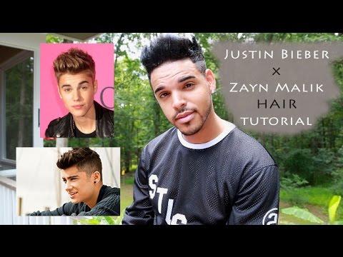 Justin Bieber | Zayn Malik ( Hairstyle Tutorial ) For ... Zayn Malik Drawing Of Justin Bieber