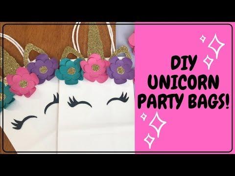DIY Unicorn Party Bags | DIY Unicorn Party Decor | DIY Unicorn Party Ideas
