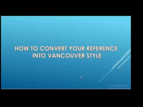 How to convert your reference into Vancouver Style - Easy Method