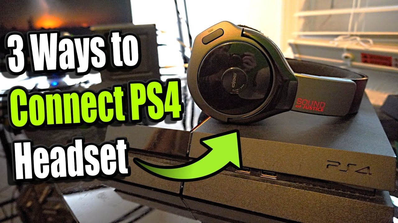 How To Connect Any Headset To Ps4 3 Ways And More Youtube