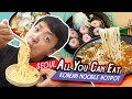All You Can Eat KOREAN NOODLE Hotpot & TONKATSU (Fried Pork Cutlet) in Seoul